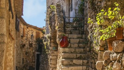 Street view of Eze village seen during a SUNNYdays Prestige Travel tour
