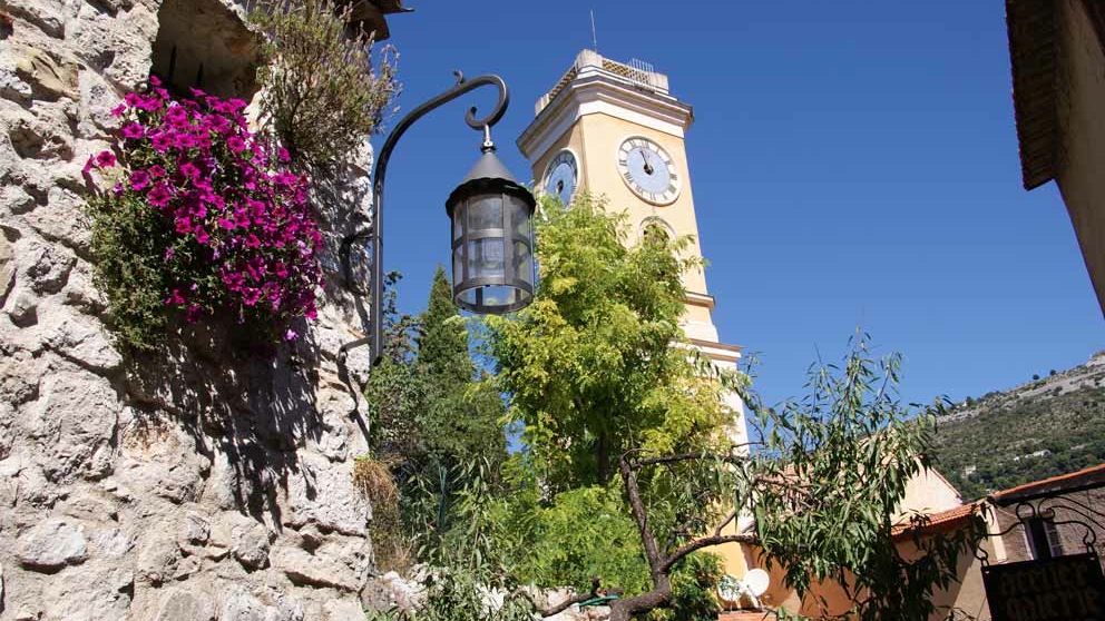 Eze church tower seen during a day trip with Sunny Days Prestige Travel. Image courtesy: Office de Tourisme d